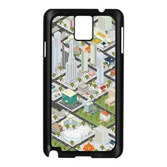 Simple Map Of The City Samsung Galaxy Note 3 N9005 Case (black)