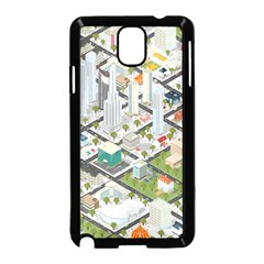 Simple Map Of The City Samsung Galaxy Note 3 Neo Hardshell Case (black)