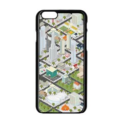 Simple Map Of The City Apple Iphone 6/6s Black Enamel Case