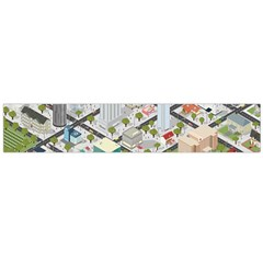 Simple Map Of The City Large Flano Scarf