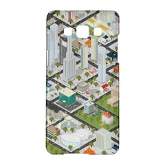 Simple Map Of The City Samsung Galaxy A5 Hardshell Case