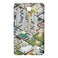 Simple Map Of The City Samsung Galaxy Tab 4 (7 ) Hardshell Case