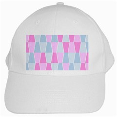Geometric Pattern Design Pastels White Cap