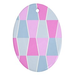 Geometric Pattern Design Pastels Ornament (oval)