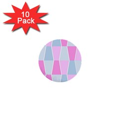 Geometric Pattern Design Pastels 1  Mini Buttons (10 Pack)