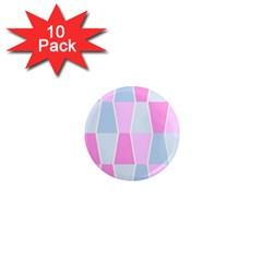 Geometric Pattern Design Pastels 1  Mini Magnet (10 Pack)