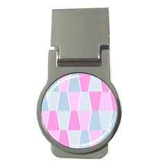 Geometric Pattern Design Pastels Money Clips (round)
