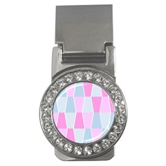 Geometric Pattern Design Pastels Money Clips (cz)