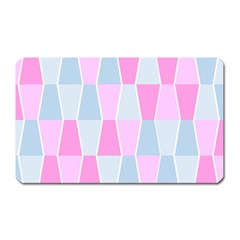 Geometric Pattern Design Pastels Magnet (rectangular)