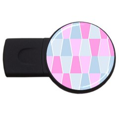 Geometric Pattern Design Pastels Usb Flash Drive Round (2 Gb)
