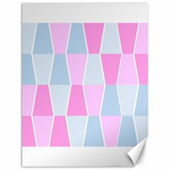 Geometric Pattern Design Pastels Canvas 12  X 16