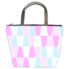 Geometric Pattern Design Pastels Bucket Bags