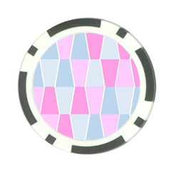 Geometric Pattern Design Pastels Poker Chip Card Guard (10 Pack)
