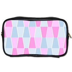 Geometric Pattern Design Pastels Toiletries Bags 2 Side