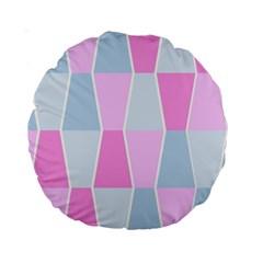 Geometric Pattern Design Pastels Standard 15  Premium Round Cushions