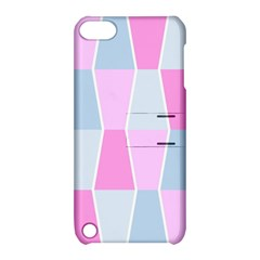 Geometric Pattern Design Pastels Apple Ipod Touch 5 Hardshell Case With Stand