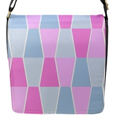 Geometric Pattern Design Pastels Flap Messenger Bag (s)