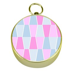 Geometric Pattern Design Pastels Gold Compasses