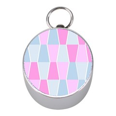 Geometric Pattern Design Pastels Mini Silver Compasses