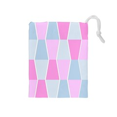 Geometric Pattern Design Pastels Drawstring Pouches (medium)