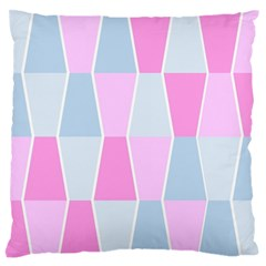 Geometric Pattern Design Pastels Standard Flano Cushion Case (two Sides)
