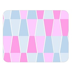 Geometric Pattern Design Pastels Double Sided Flano Blanket (large)