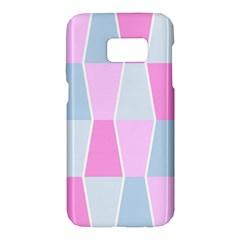 Geometric Pattern Design Pastels Samsung Galaxy S7 Hardshell Case
