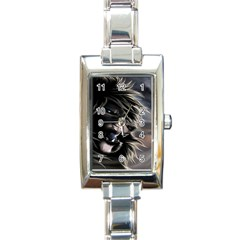 Angry Lion Digital Art Hd Rectangle Italian Charm Watch