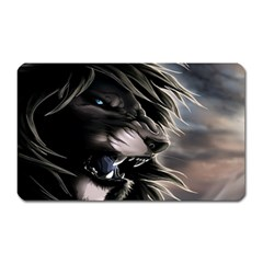 Angry Lion Digital Art Hd Magnet (rectangular)