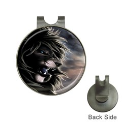 Angry Lion Digital Art Hd Hat Clips With Golf Markers