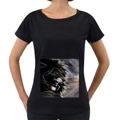 Angry Lion Digital Art Hd Women s Loose Fit T Shirt (black)
