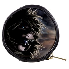 Angry Lion Digital Art Hd Mini Makeup Bags