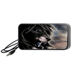 Angry Lion Digital Art Hd Portable Speaker
