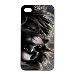 Angry Lion Digital Art Hd Apple Iphone 4/4s Seamless Case (black)