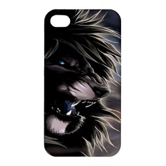 Angry Lion Digital Art Hd Apple Iphone 4/4s Hardshell Case