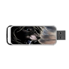 Angry Lion Digital Art Hd Portable Usb Flash (two Sides)