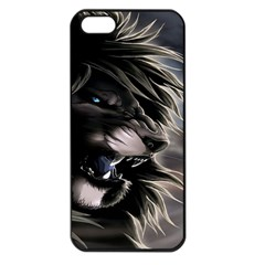 Angry Lion Digital Art Hd Apple Iphone 5 Seamless Case (black) by Nexatart