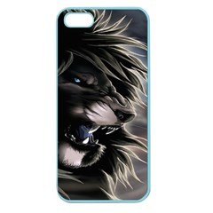Angry Lion Digital Art Hd Apple Seamless Iphone 5 Case (color)