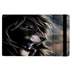 Angry Lion Digital Art Hd Apple Ipad 3/4 Flip Case
