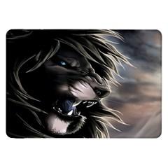 Angry Lion Digital Art Hd Samsung Galaxy Tab 8 9  P7300 Flip Case