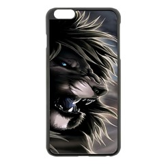 Angry Lion Digital Art Hd Apple Iphone 6 Plus/6s Plus Black Enamel Case