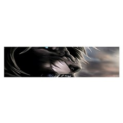 Angry Lion Digital Art Hd Satin Scarf (oblong)