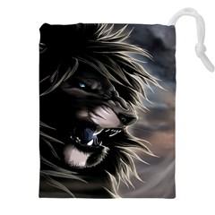 Angry Lion Digital Art Hd Drawstring Pouches (xxl)