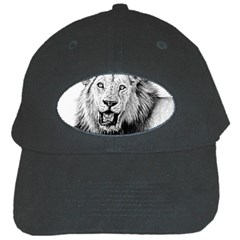 Lion Wildlife Art And Illustration Pencil Black Cap