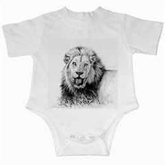 Lion Wildlife Art And Illustration Pencil Infant Creepers