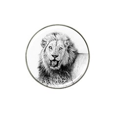 Lion Wildlife Art And Illustration Pencil Hat Clip Ball Marker (10 Pack) by Nexatart