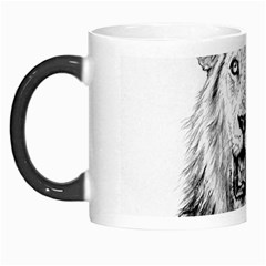 Lion Wildlife Art And Illustration Pencil Morph Mugs