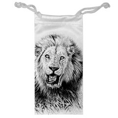 Lion Wildlife Art And Illustration Pencil Jewelry Bag
