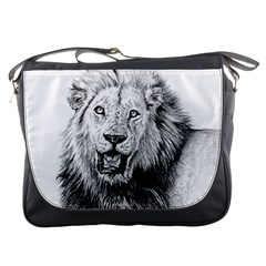 Lion Wildlife Art And Illustration Pencil Messenger Bags
