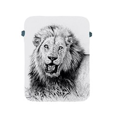 Lion Wildlife Art And Illustration Pencil Apple Ipad 2/3/4 Protective Soft Cases
